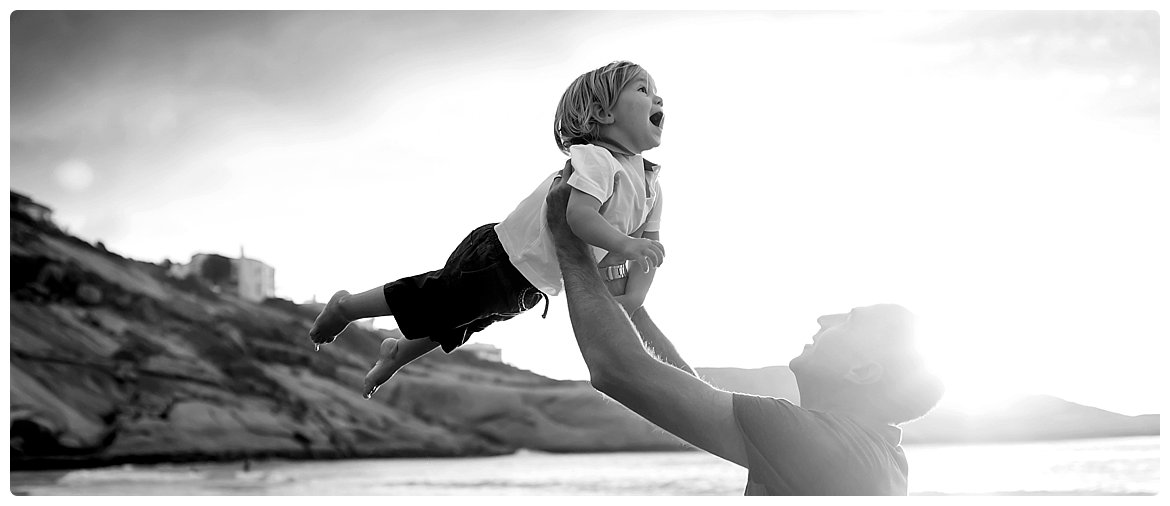 family portrait photo session on cape town beach by photographer