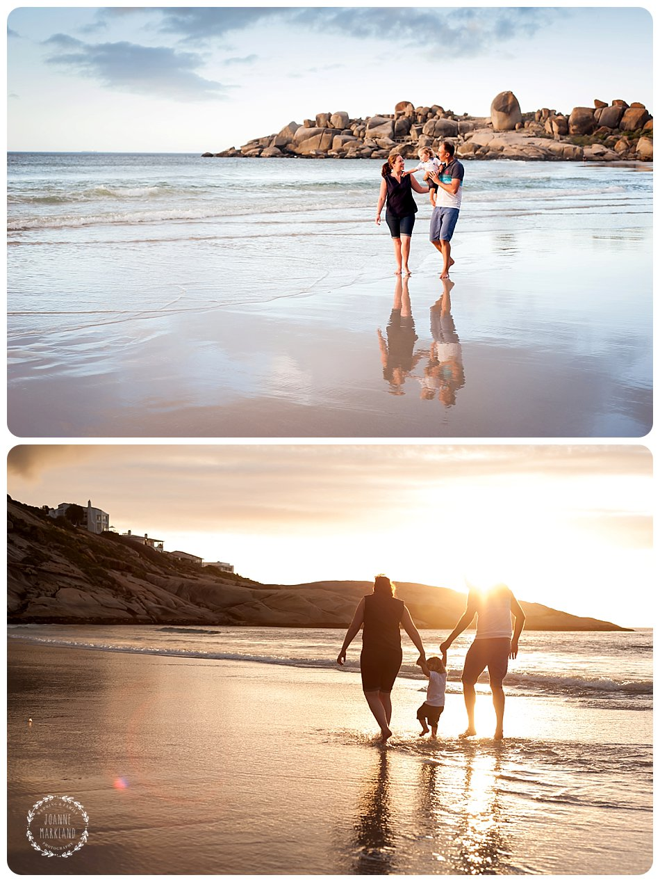 family portrait photo session on cape town beach