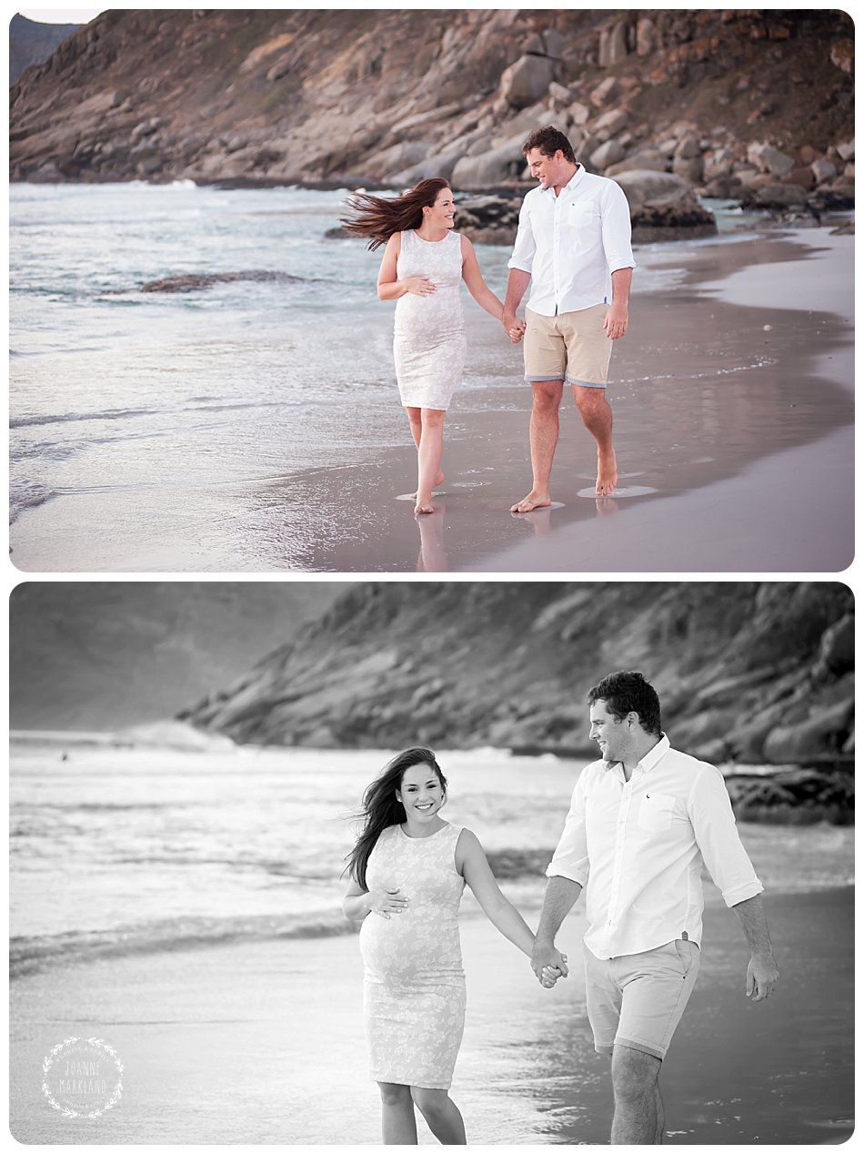 maternity portraits , beach maternity portraits, noordhoek beach, preggie belly, baby bumps, couple shoot, couple portraits, joanne markland photography