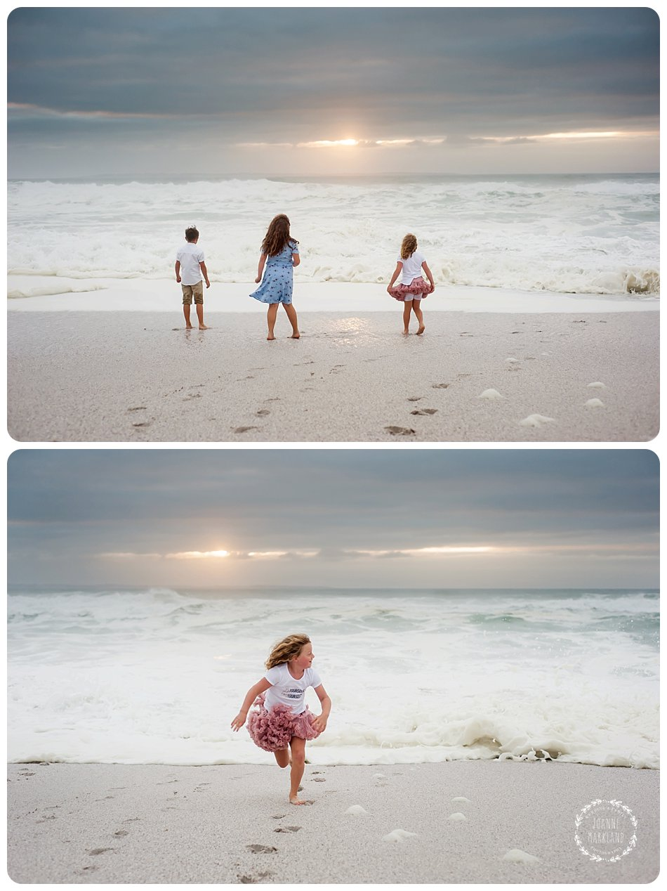 fun beach family photography taken on blouberg beach by cape town based photographer joanne markland