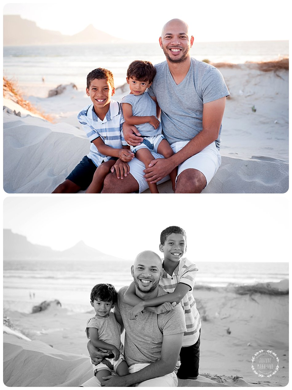 fun family portraits on blouberg beach joanne markland photography