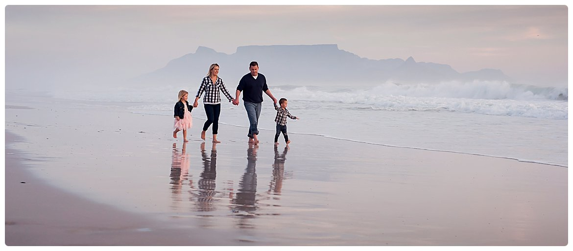 blouberg beach family photographer table mountain background cape town photography