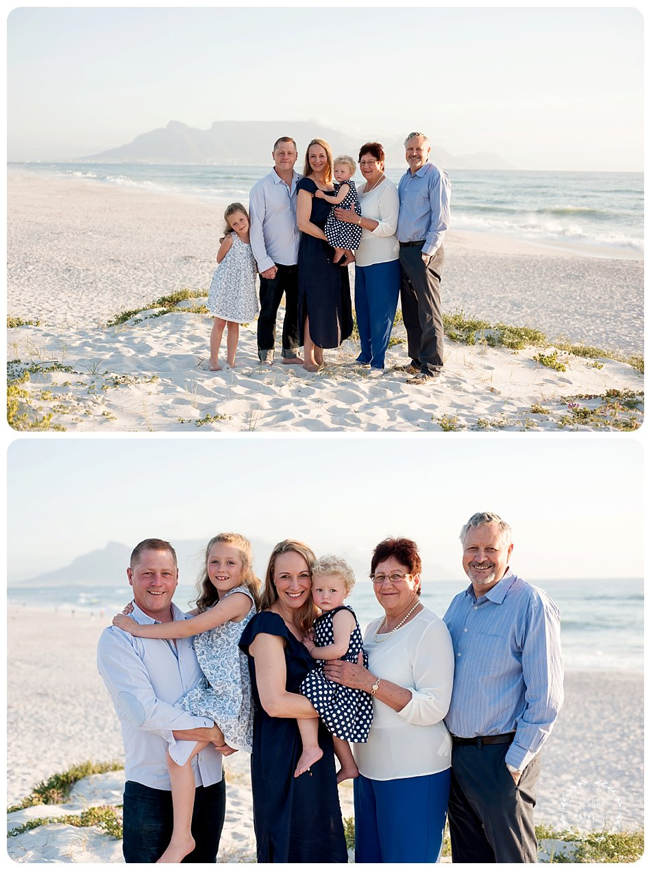 family portraits on bloubergstrand beach by cape town photographer joanne markland