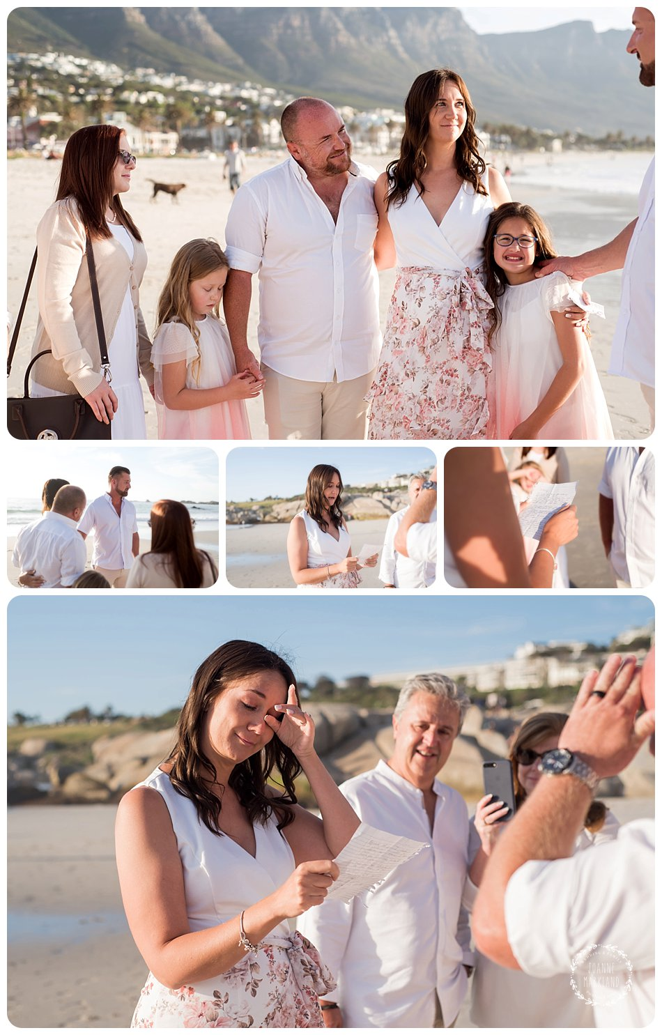 campsbay family photoshoot on beach by cape town photographer Joanne Markland photography