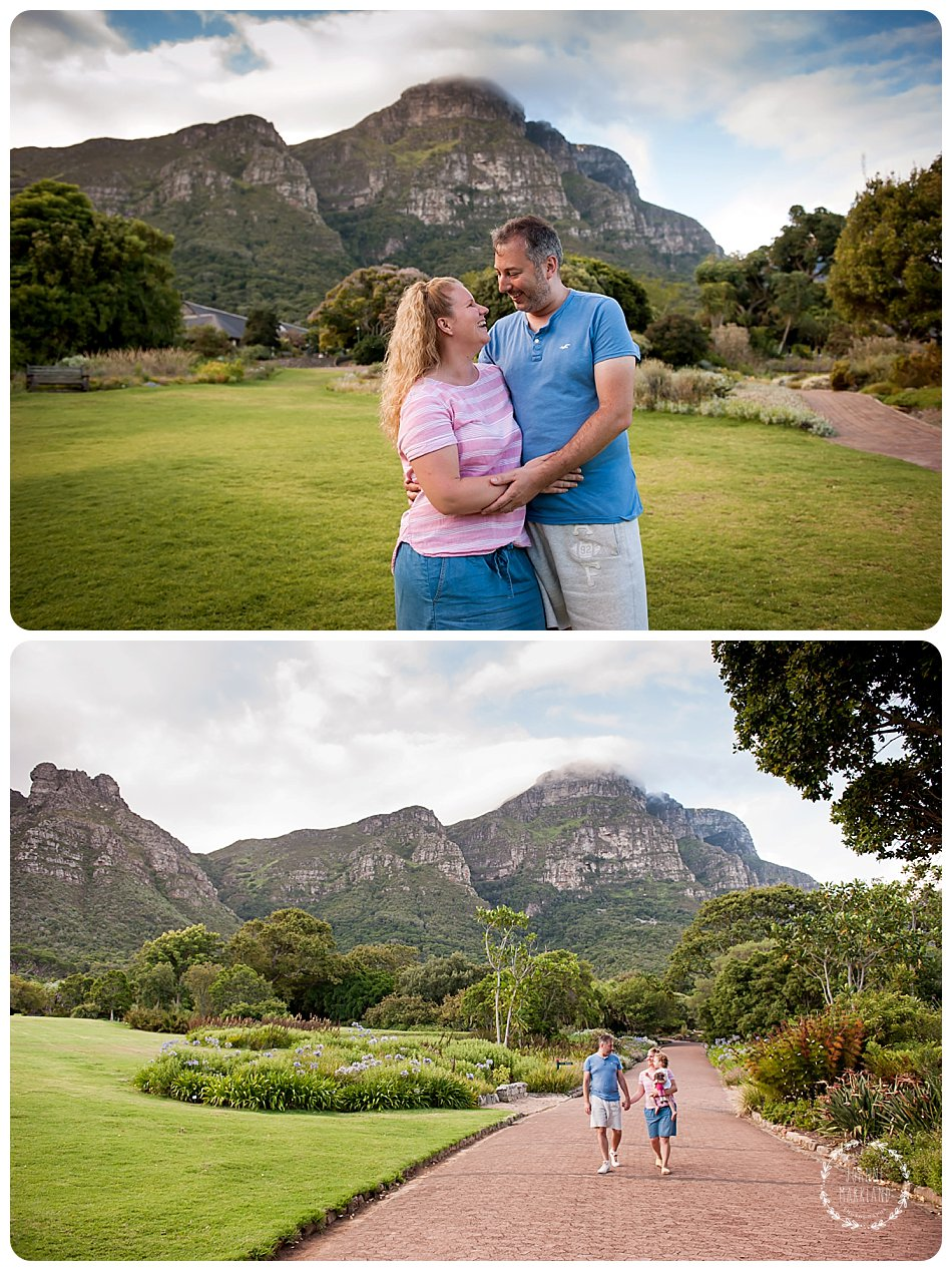 family portrait photo session in Kirstenbosch gardens cape town