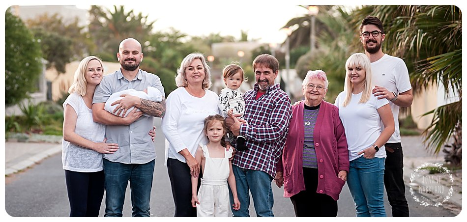family portraits, cape town, sunset beach family, joanne markland photography, cape town photographer