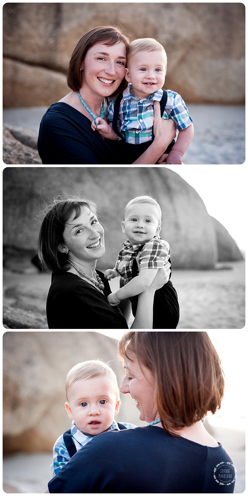 family portraits on Llandudno beach cape town