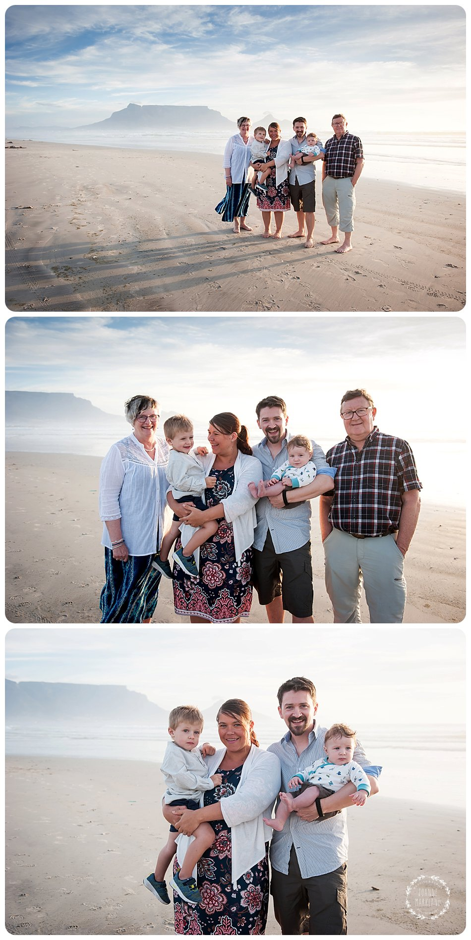 table mountain, beach, cape town family photographer, beach family photographs, family photographer cape town, joanne markland photography, family photo session, international photographer